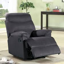 recliner chairs decorating theme with black fabric recliner and