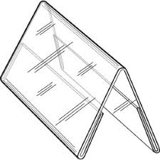 table tent sign holders 4w x 6h clear styrene double sided table tent sign holder
