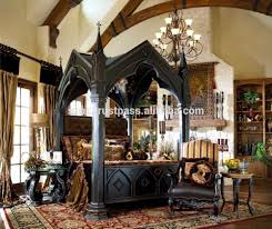 luxury canopy bed four pillars bed pillar bed wooden wholesale