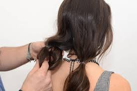 hair style in long hair faux bob how to 6 steps to a fake short bob with long hair