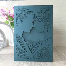 Design Online Wedding Invitation Cards 12pcs Lot Romantic Free Shipping Design Rustic Kissing Couple