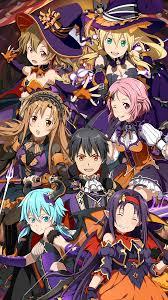 halloween banner mobile wallpaper sao md by kaz kirigiri on