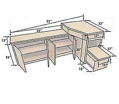 RV Corner Desk With Credenza RV CABINETS RV FURNITURE - Corner cabinet for rv
