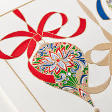 ornaments greeting card personalized