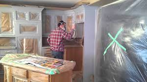 Professional Spray Painting Kitchen Cabinets by How To Prep And Spray Kitchen Cabinets Youtube