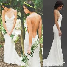 wedding dress open back open back lace mermaid wedding dresses with spaghetti