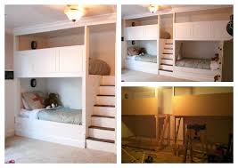 amazing built in bunk bed plans free 22 for your simple design