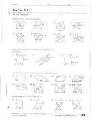 properties of parallelograms worksheet quarter 2 mr tikelis math class website