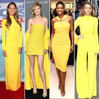 shades of yellow blake lively selena gomez more wear yellow on red carpet pics