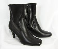 womens black dress boots size 11 style co s synthetic slim ankle boots ebay