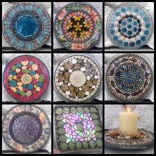 garden mosaic ideas mosaic art made with all thing cool mosaic garden stones wedding
