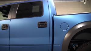 Ford Raptor Truck Wraps - 3m full vinyl color change 2014 ford raptor blue metallic youtube