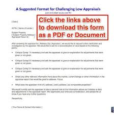 Appraisal Rebuttal Letter how to challenge a low appraisal advice from a real appraiser