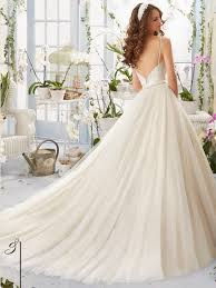 mori lee blu 5416 v neck soft net ball gown bridal dress