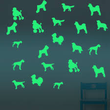 popular wall mural dog buy cheap wall mural dog lots from china 2017 dogs design glowing cartoon removablediy wall mural sticker for home decoration china mainland
