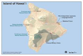 Map Of Big Island Hawaii Internment Camps In Hawai U0027i Jcch Hawaii Internment Camp