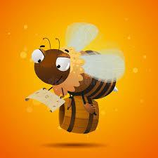 Seeking Honey Bee Worker Seeking The Honey Stock Illustration Illustration Of