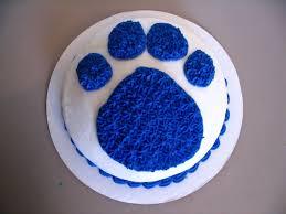 mini blue u0027s clue paw print cakecentral com