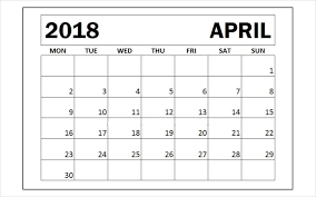 printable calendar pages april 2018 printable calendar pages printable calendar template