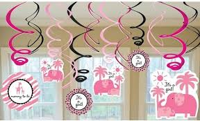 baby shower decorations for a girl safari girl baby shower decorative swirls
