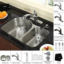 Kitchen Sink Faucet Combo Brilliant Kraus Kitchen Combo Set Stainless Steel Undermount