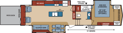 durango 5th wheel floor plans durango gold fulltime luxury fifth wheel floorplans photos k z rv