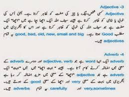 english language course in urdu parts of speech