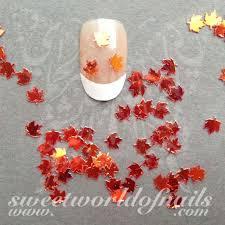 Nail Decorations Autumn Nail Art 3d Orange Maple Leaves Nail Decoration Nail Art