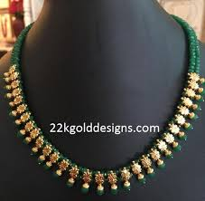 beads gold necklace images Emerald beads archives page 2 of 4 22kgolddesigns jpg