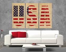 Art For Living Room Flag Wall Art Etsy