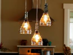 Diy Hanging Light Fixtures Upcycle Wine Bottle Into Pendant Light Fixtures How Tos Diy