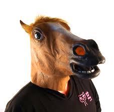 fake horse head horse head lifesize head mask pink cat shop