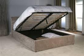 Ottoman Storage Beds Ottoman Storage Bed Mink Velvet Limelight Beds
