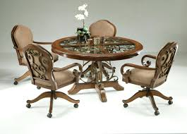 Casters For Dining Room Chairs Dining Chairs Casters Swivel Table With W Wheels Chair And Brakes