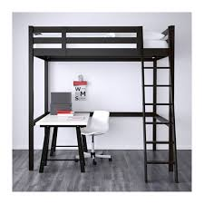 Bunk Bed Computer Desk Storå Loft Bed Frame Black Ikea