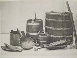oseberg ship grave wooden artifacts trenchers and buckets