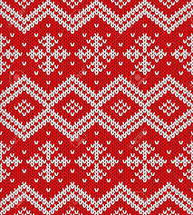 christmas pattern knit fabric vector snowflakes christmas ornament rich red and white christmas