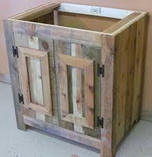 Distressed Wood Bathroom Vanity Reclaimed Wood Rustic Bathroom Vanity Barn Furniture Pertaining To