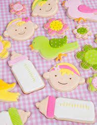 photo baby shower cookies long image