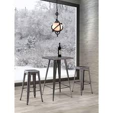 Zuo Modern Bar Table Zuo Olympia Gunmetal Pub Bar Table 601189 The Home Depot
