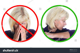 stop spread germs please sneeze into stock photo 34999744