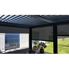 terrasse transparente store pvc transparent exterieur pour terrasse store