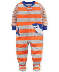 s shark stripe print cotton pajamas baby boys pajamas