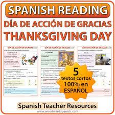 thanksgiving reading día de acción de gracias by