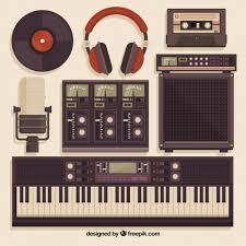 music studio music studio equipment in vintage style vector free download