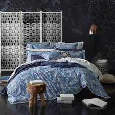 florence broadhurst bed linen receives the denim treatment the