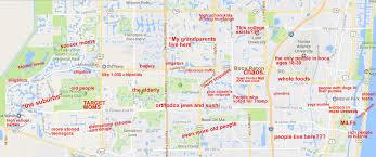 A Map Of Florida The Judgmental Map Of Boca Raton Florida