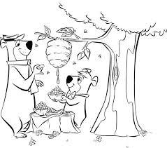 yogi bear coloring pages kids free printable coloring sheets