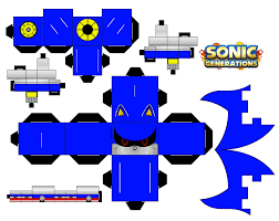 Sonic The Hedgehog Papercraft - classic metal sonic by mikeyplater on deviantart