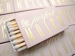 wedding matches pink and gold wedding matches set of 20 the match tea